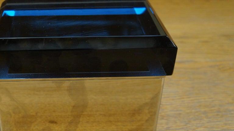 Toso Mid-Century Modern Blue Molato Murano Glass Jewelry Box, 1982 For Sale 2