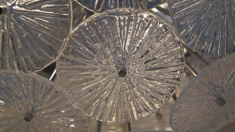 Toso Stefano Mid-Century Modern Crystal Murano Glass Chandelier Sputnik, 1985 For Sale 6