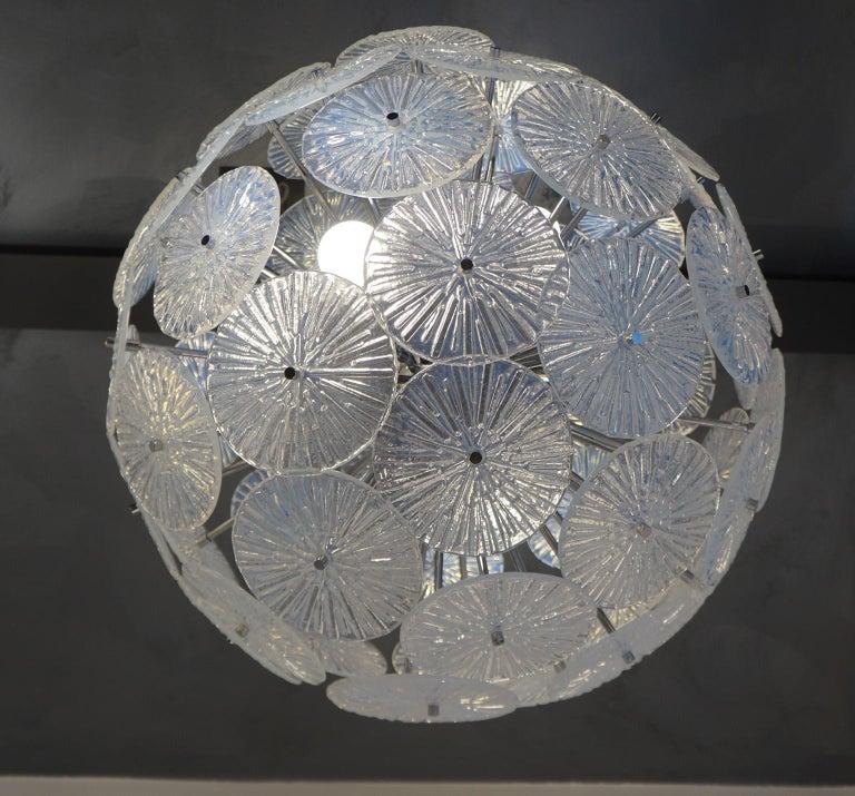 Toso Stefano Mid-Century Modern Crystal Murano Glass Chandelier Sputnik, 1985 For Sale 12