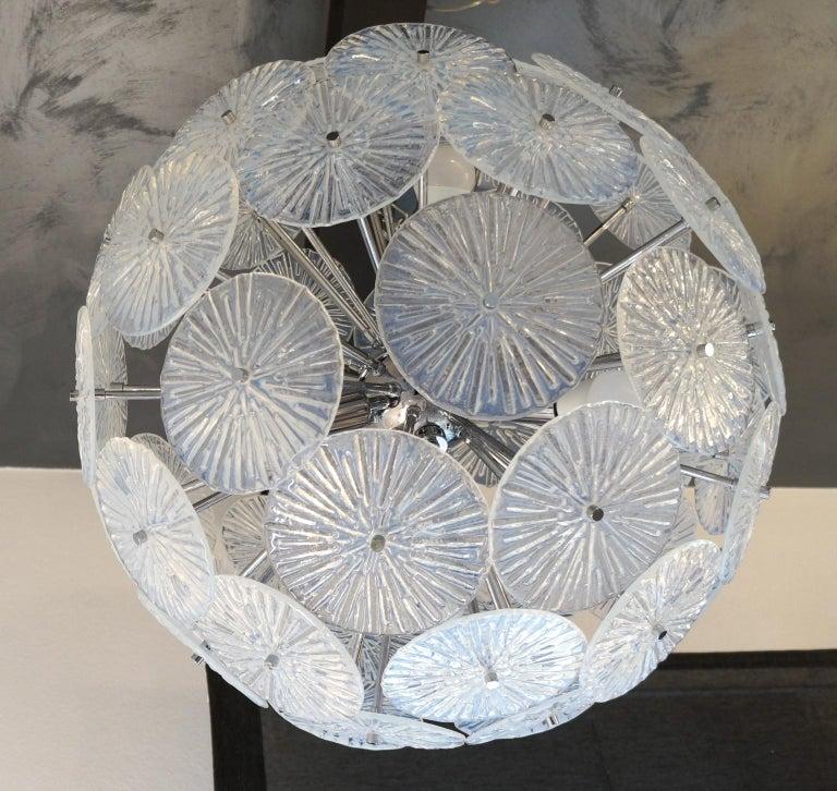 Toso Stefano Mid-Century Modern Crystal Murano Glass Chandelier Sputnik, 1985 For Sale 1