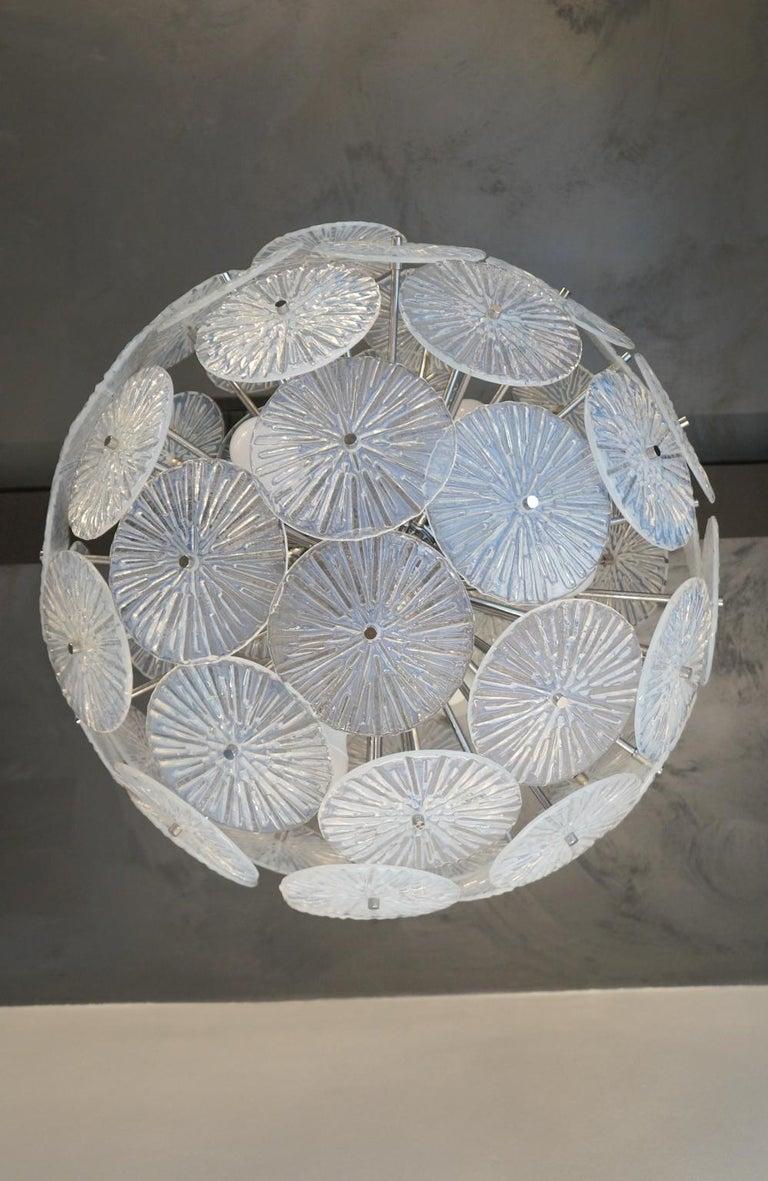 Toso Stefano Mid-Century Modern Crystal Murano Glass Chandelier Sputnik, 1985 For Sale 2