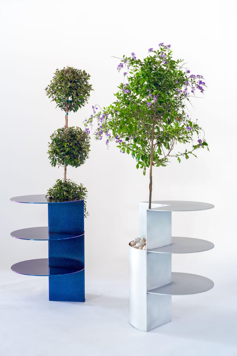 Anodized Total Garbage Side Table Planter Birnam Wood Studio  For Sale