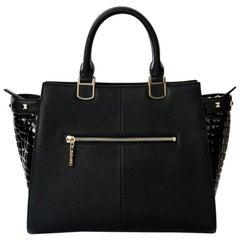 Tote- Black Leather Handbag