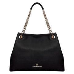 Tote - Black Pebble Leather Handbag