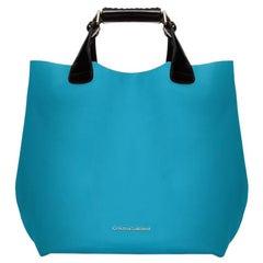 Tote - Caribbean Blue Leather Handbag