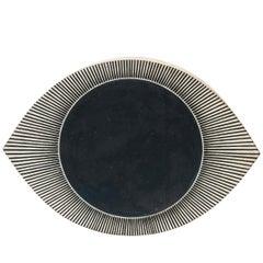 Totem Eye Indigo Portal Stoneware Tile by Michele Quan
