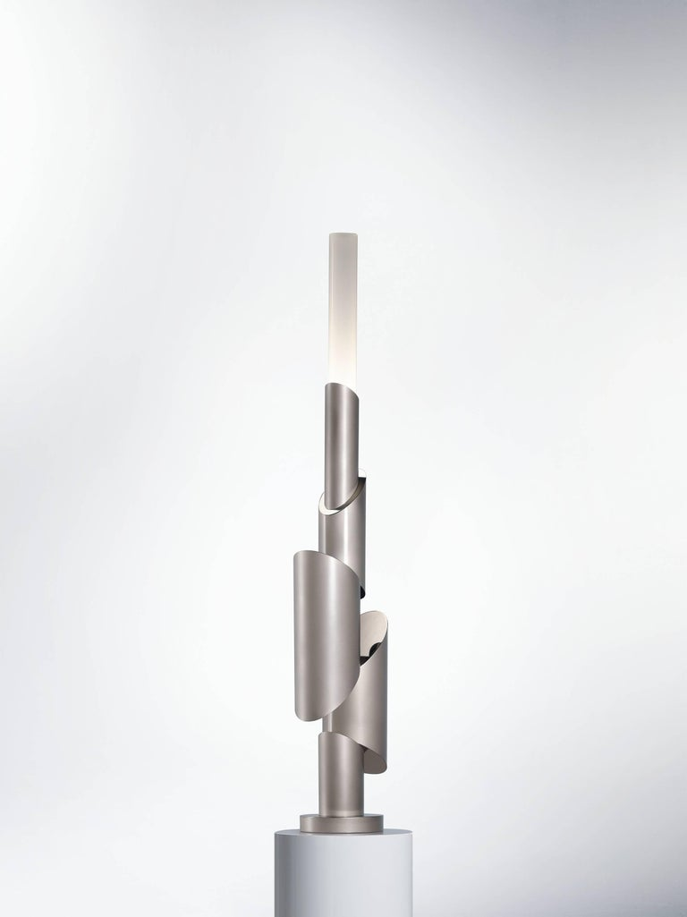 Totem II, table lamp, signed William Guillon 