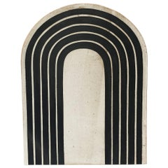 Totem Kora Black Rings Portal Stoneware Tile by Michele Quan
