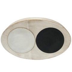 Totem Oval Domino Portal Stoneware Tile by Michele Quan