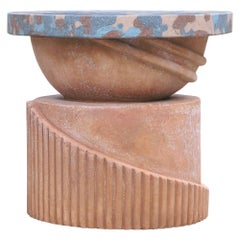 TOTEM Seats, Trunk in Terracotta, Handmade in Tuscany