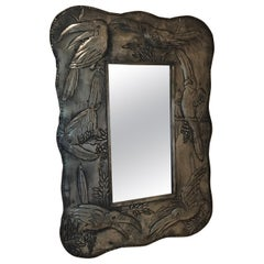Toucan Embossed Metal Framed Mirror