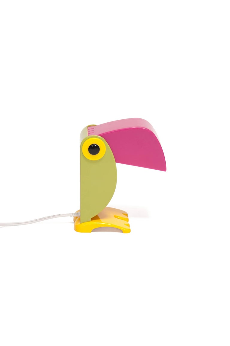 Italian Toucan Lamp by Old Timer Ferrari, Vintage, Italy, 1968 For Sale