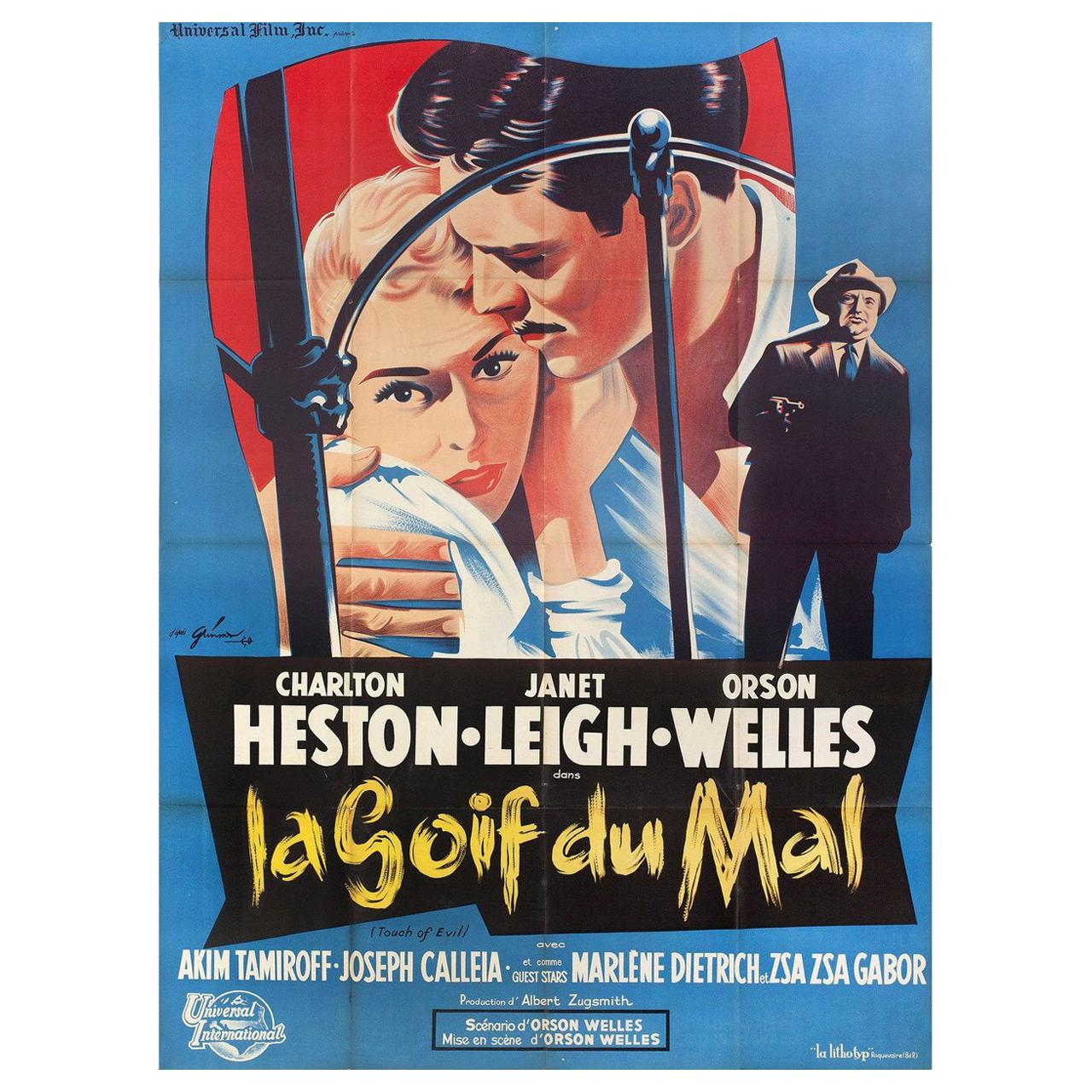 Touch of Evil R 1960s French Grande Film Poster