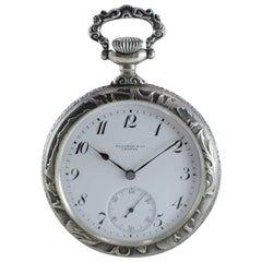 Touchon & Co. Art Nouveau Open Faced Pocket Watch, circa 1900s