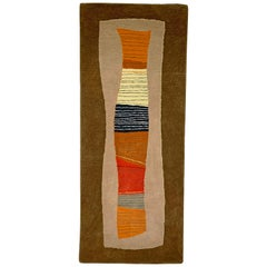 Toulemonde Bochart Woven Abstract Rug, Made in France, circa 1980s