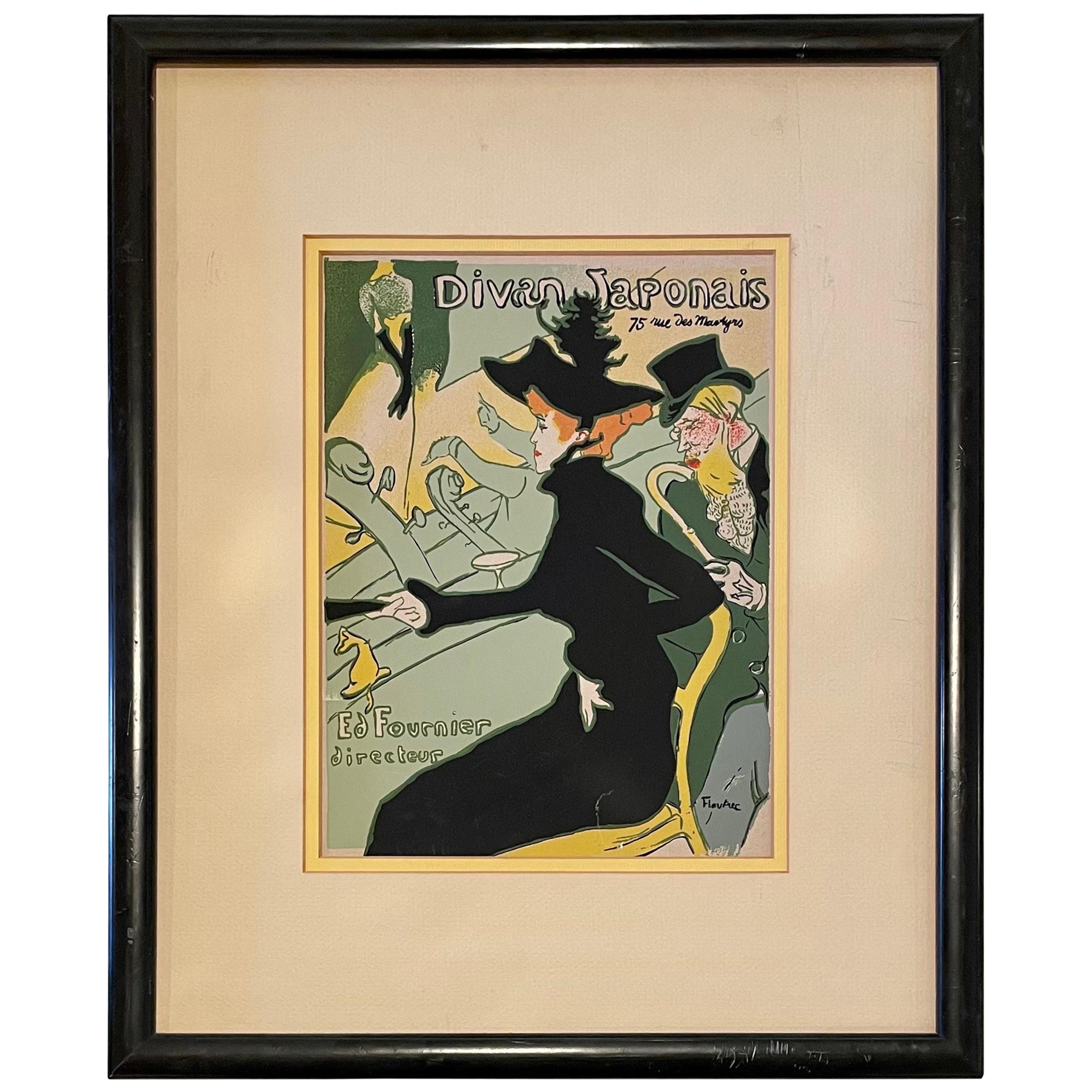 Toulouse Lautrec Divan Japonais Silkscreen Print