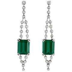 Tourmaline and Diamond Earring by H. Stern