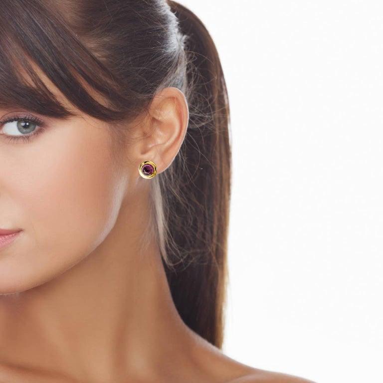 Tourmaline Diamonds 18 kT Gold Earrings and Pendant Set For Sale 1