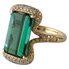 Tourmaline Diamond Ring