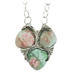 Tourmaline Pendant Necklace Vibrant Colors Sterling Spiritual Stones
