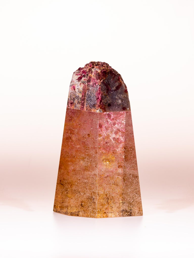 Tourmaline, Quartz and Glass Sculpture, Pretty in Pink 2