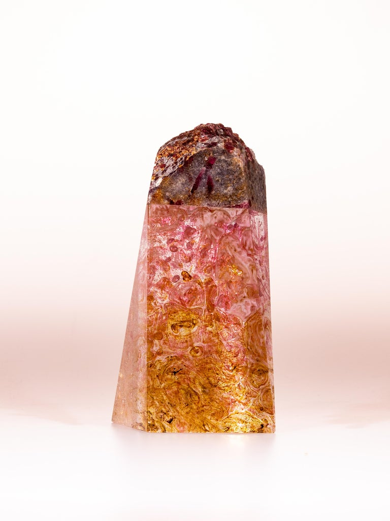 Tourmaline, Quartz and Glass Sculpture, Pretty in Pink 5