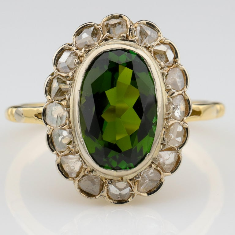 Chrome tourmaline is a deep forest-green tourmaline that is named after the chromium which gives the gem its rich, deep green. Ordinary green tourmaline is not rare; chrome tourmaline is considered a collector's gem because it's extremely rare. It