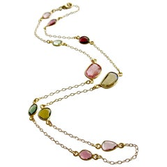 Tourmaline Stations Necklace, Tess Necklace