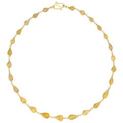 Tourmaline Yellow Gold 22 Karat Gold and 20 Karat Gold Necklace