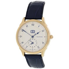 Tourneau Classic Big Date 35005 18 Karat Rose Gold Men's Watch