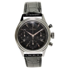 Tourneau Watch Company Stainless Steel Three Register Chronograph