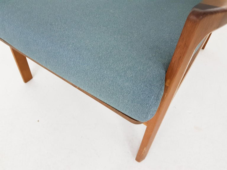 20th Century Tove and Edvard Kindt-Larsen Lounge Chair in New Green Fabric, Norway, 1960s