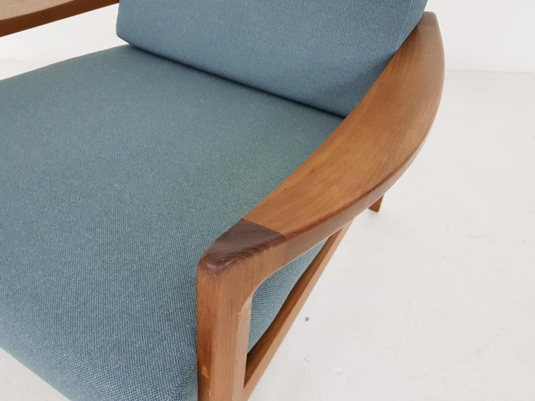 Tove and Edvard Kindt-Larsen Lounge Chair in New Green Fabric, Norway, 1960s 1