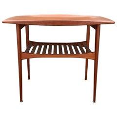 Tove and Edvard Kindt-Larsen Teak Slatted Danish Modern Table