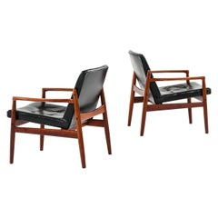 Tove & Edvard Kindt-Larsen Easy Chairs Model Viken Produced by OPE in Sweden