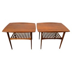 Tove & Edvard Kindt-Larsen for France & Son Model FD510 Pair of Teak Side Tables