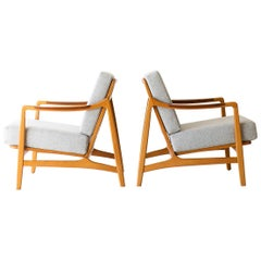 Tove & Edvard Kindt-Larsen Lounge Chairs for France & Daverkosen