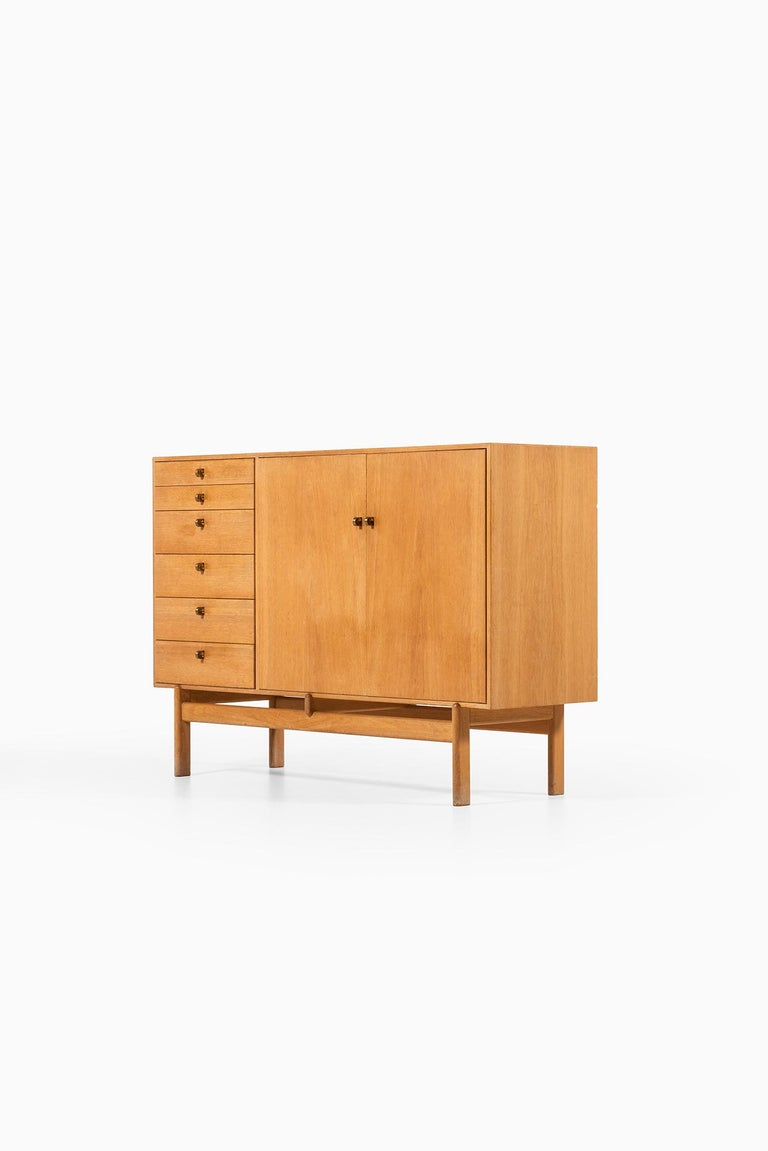 Brass Tove & Edvard Kindt-Larsen Sideboard by Seffle Möbelfabrik in Sweden For Sale