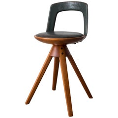 Tove & Edvard Kindt Larsen Swivel Stool, 1957