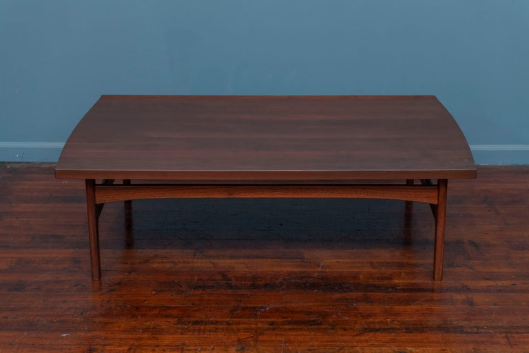 Scandinavian Modern Tove & Edvard Kindt-Larsen Walnut Coffee Table by DUX For Sale