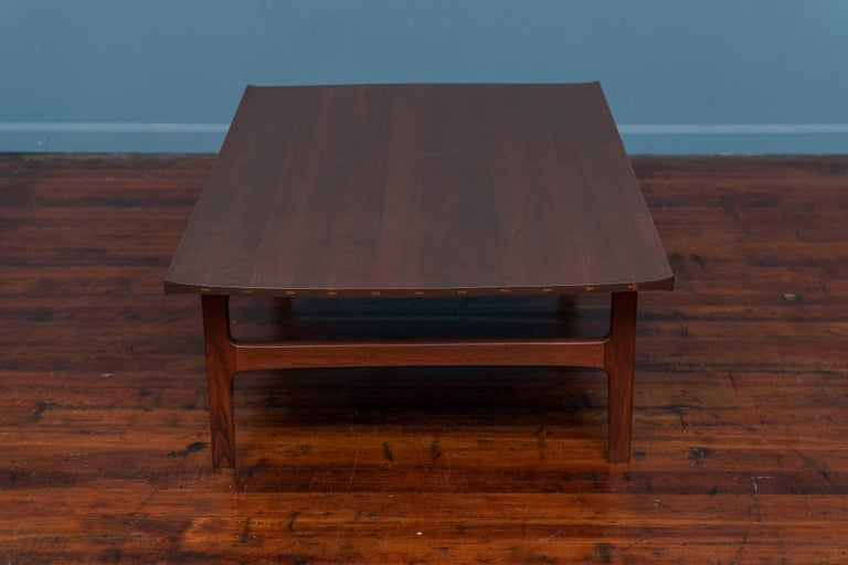 Danish Tove & Edvard Kindt-Larsen Walnut Coffee Table by DUX For Sale