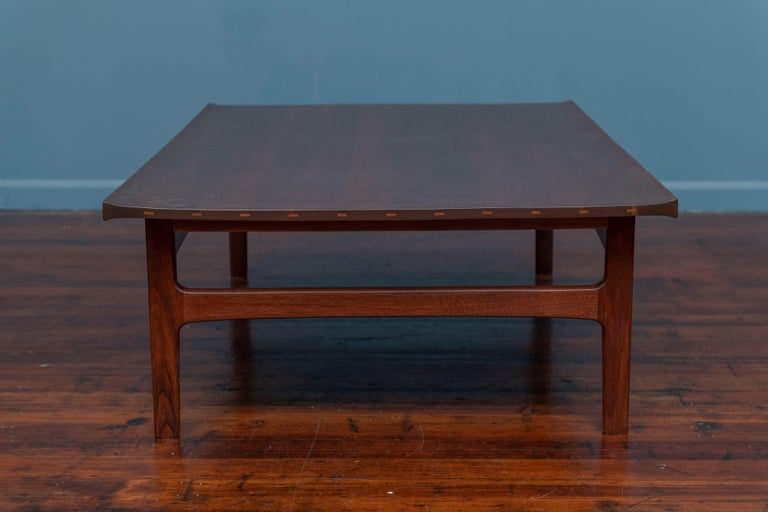 Mid-20th Century Tove & Edvard Kindt-Larsen Walnut Coffee Table by DUX For Sale