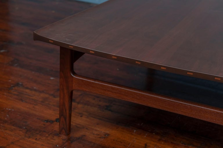 Tove & Edvard Kindt-Larsen Walnut Coffee Table by DUX For Sale 1