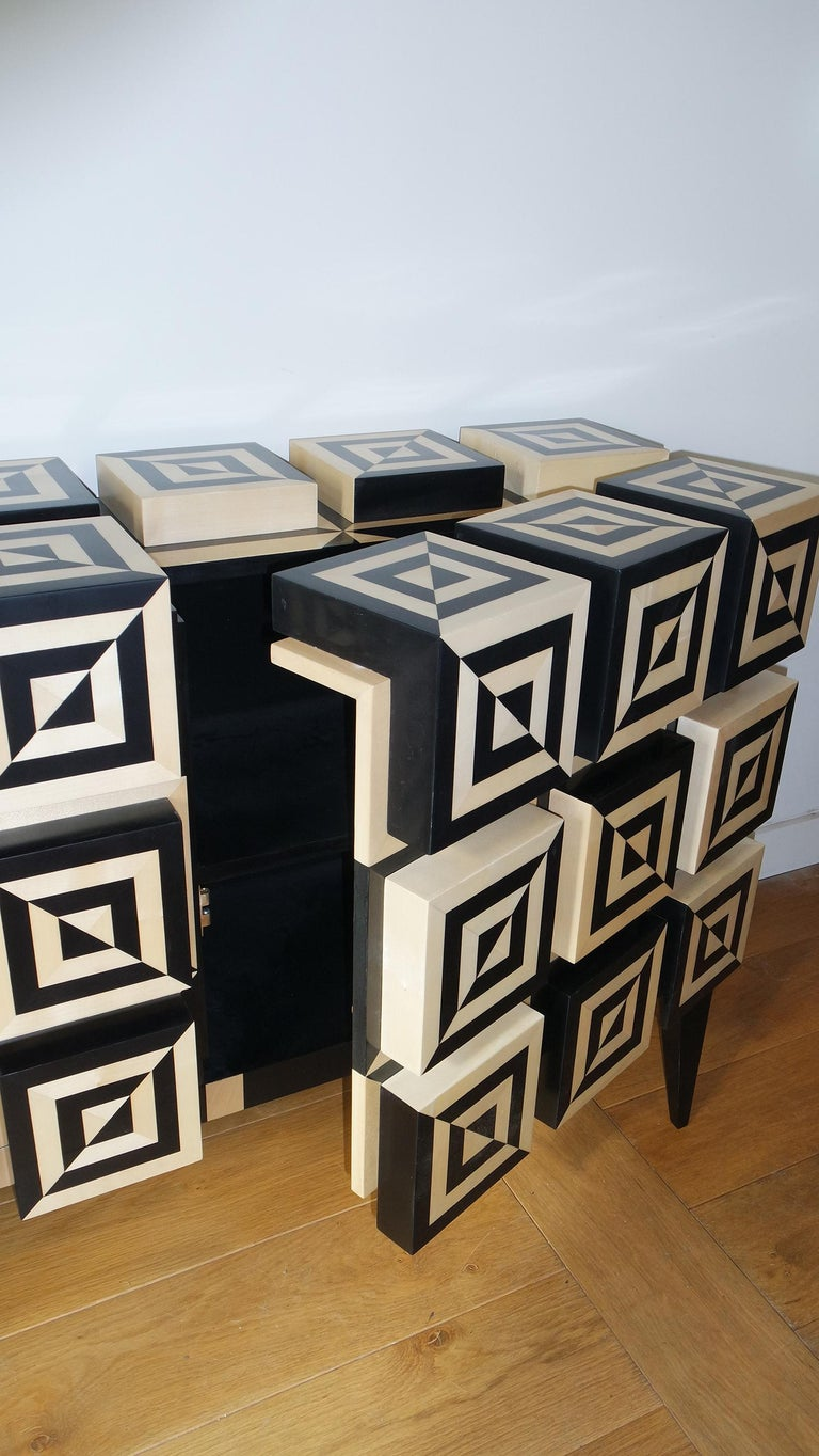 Marquetry Tow Doors Buffet