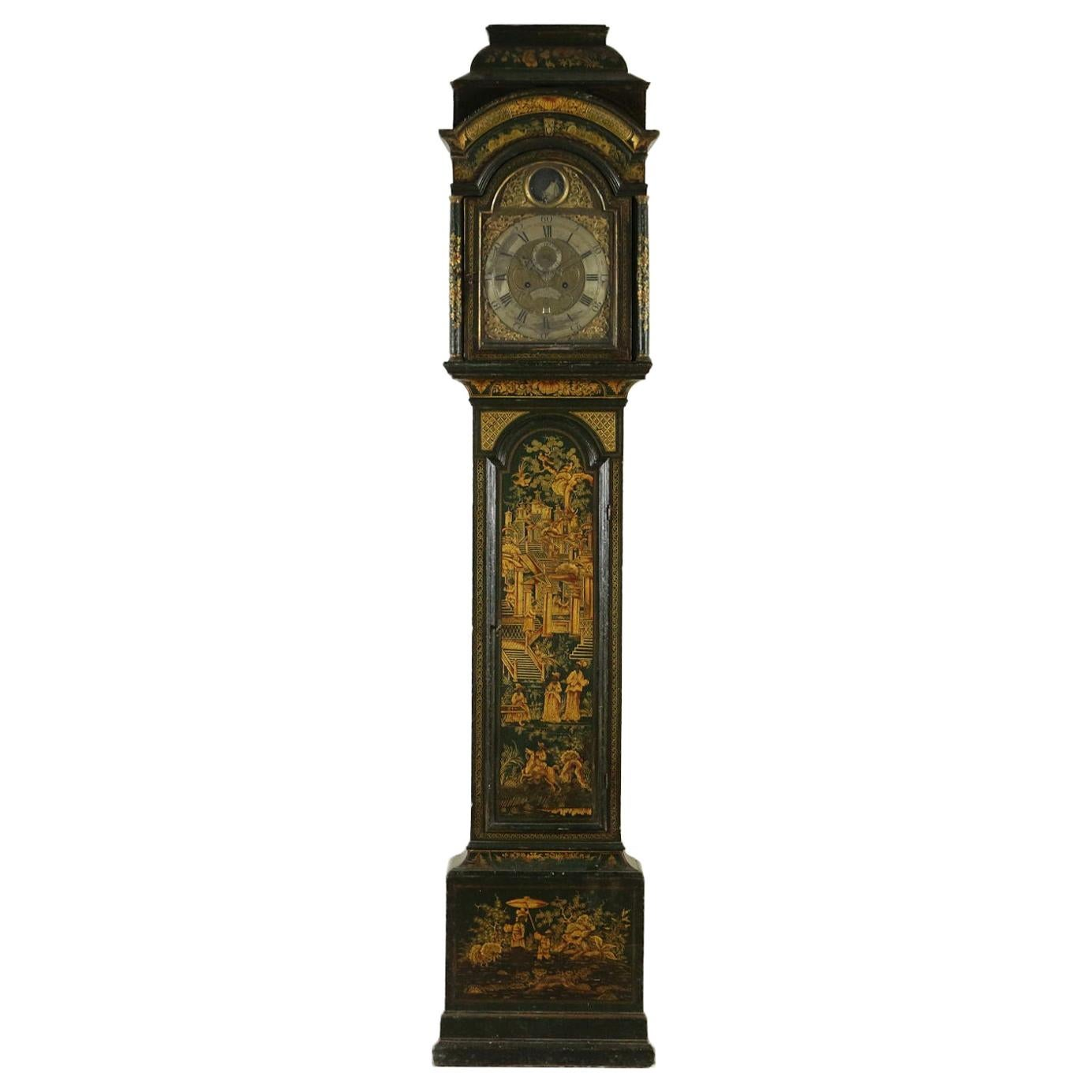 Tower Clock, Phippard Jappened Long Case George II Period '1730-1760'