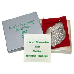 """Towle Sterling Ornament """"12 Drummers Drumming"""" with Box, 1982"""