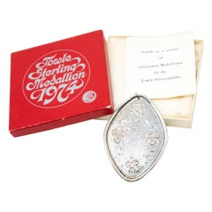 """Towle Sterling Ornament """"4 Calling Birds"""" with Box, 1974"""