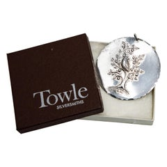 Towle Sterling Ornament Partridge in a Pear Tree with Dove of Peace Box, 1971