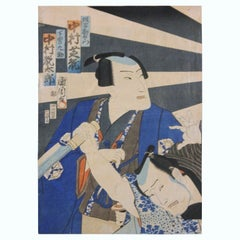 Two Kabuki Actors Japanese Woodblock Print