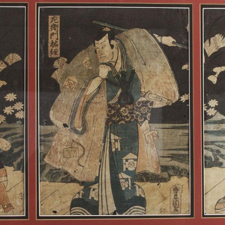 Toyokuni Ukiyo-e Kabuki Actor Print In Excellent Condition In Boca Raton, FL